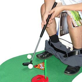 Toilet Golf Potty Time Putter Bathroom Game In 2020 Gag Gifts