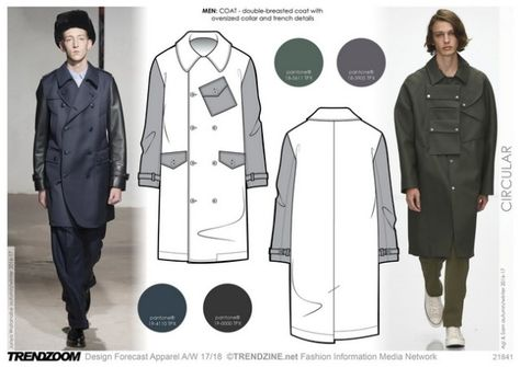#Trendzine A/W 17-18 trends on #WeConnectFashion - Men's Contemporary inspiration: Circular.