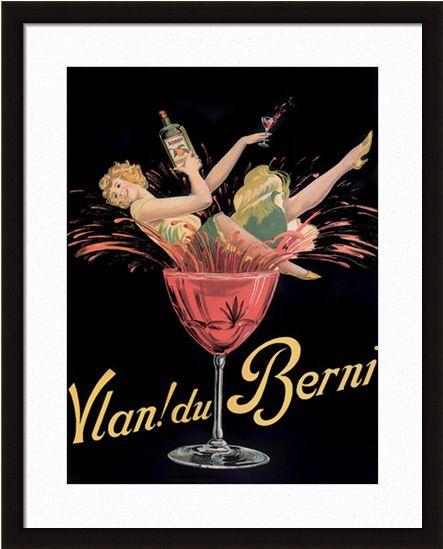 Vlan du Berni Wine Beer Liqueur Vintage Advertisement Art Poster Print