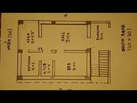 20 30 South Face House Plan Map Naksha Youtube 20x40 House Plans House Plans House Map