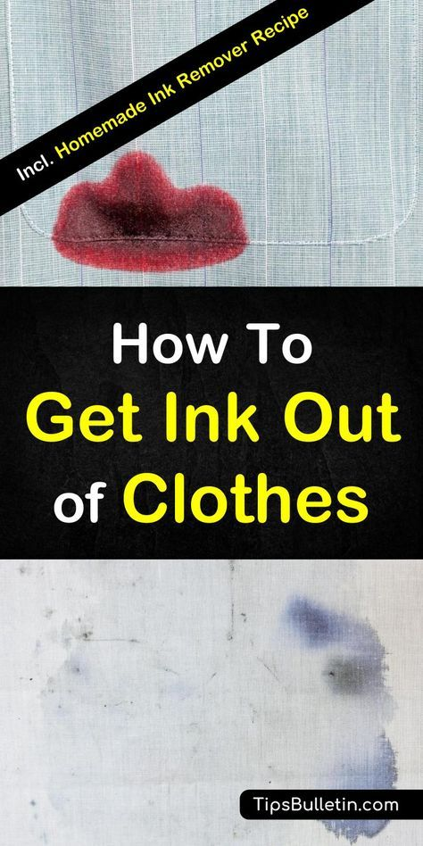 9 Powerful Ways To Get Ink Out Of Clothes Ink Out Of Clothes Cleaning Hacks How To Remove