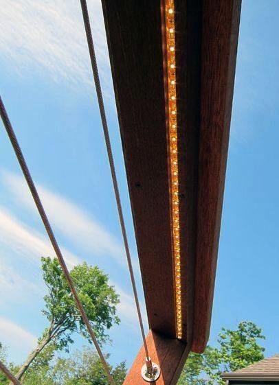 Top 60 Best Deck Lighting Ideas Outdoor Illumination Deck Lighting Cable Railing Deck Deck Railings