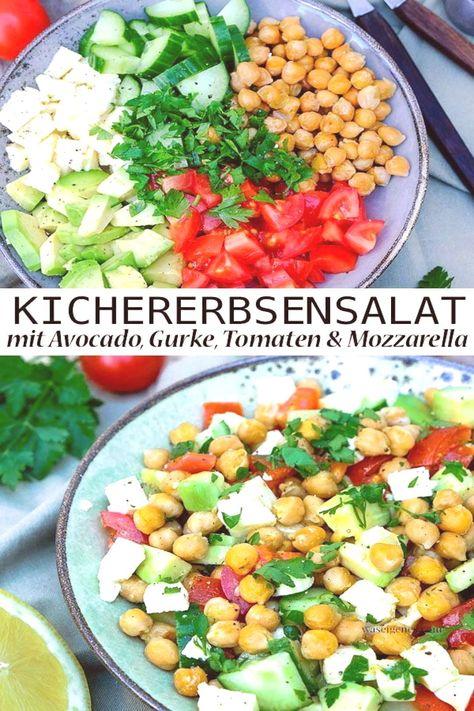 #kichererbsensalat #kichererbsen #vinaigrette #mozzarella #sommerlich #salatg...