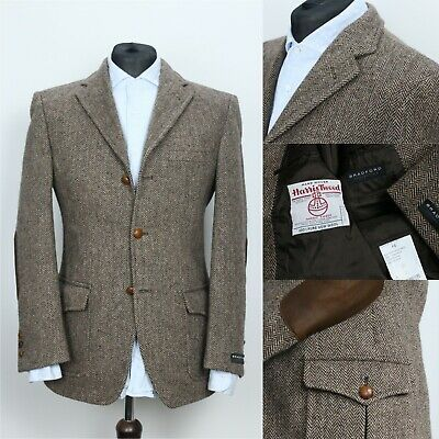 Sponsored Ebay Harris Tweed Herringbone Brown Hunting Sport Coat Blazer Jacket 46it 36us Uk Harris Tweed Jacket Mens Winter Fashion Tweed Sport Coat