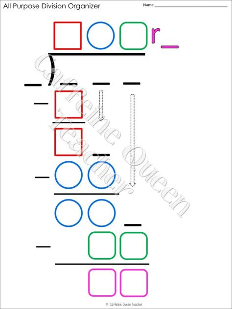 2 Digit Multiplication and Long Division BUNDLE Teaching long division to students is much easier with this visual strategy of using an organizer to guide learners through the steps! Great for grade, grade, and special education students. Multi Digit Multiplication, Teaching Multiplication, Teaching Math, Student Learning, Maths Puzzles, Maths Fun, Teaching 5th Grade, Math Fractions, Teaching Activities