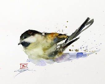 Eastern Bluebird Oiseau Aquarelle Art Print Par Dean Crouser