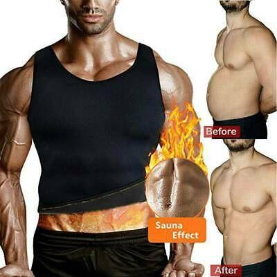 Sauna Suit Tank Top for Men Workout Vest Gym Shirt Shaper Neoprene Hot Sweat US