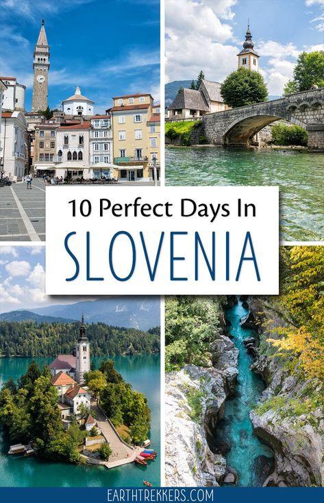10 Days in Slovenia Itinerary: Lake Bled, Lake Bohinj, Vintgar Gorge, Ljubljana, Vrsic Pass, Julian Alps, Triglav National Park, Piran, Maribor. #slovenia #travelitinerary #lakebled #roadtrip