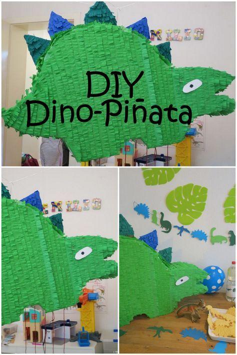 Dino Pinata Dinosaurier Diy Kindergeburtstag Junge