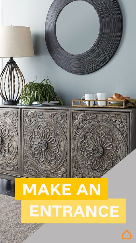 Make the best first impression, starting with your entryway. With all your friends and family heading to your place this spring, welcome them with accent tables, wall decor and accent pieces galore. Check out everything we offer for entryway styles today.