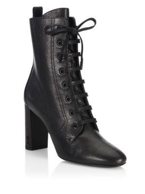 6ea8fd0e SAINT LAURENT Loulou Leather Lace-Up Booties. #saintlaurent #shoes ...