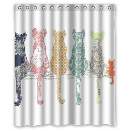 Home Cat Shower Curtain
