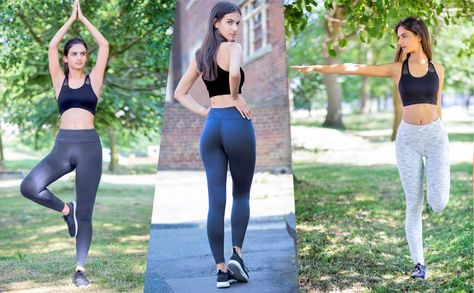 9f1f7e32bc90f Oalka Women Power Flex Yoga Pants Workout Running Leggings | all ...