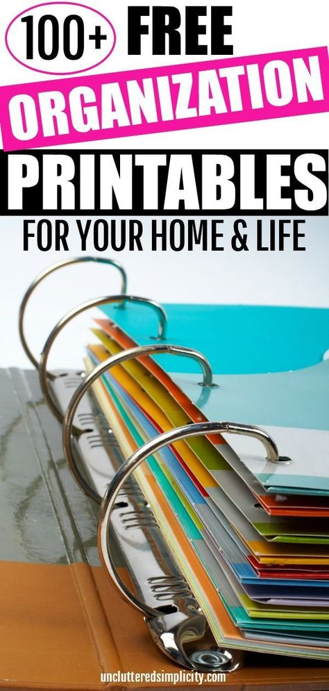 Free Organizational Printables For The Home- To Organize Your Life Free Organization Printables Diy Organizer, Household Organization, Organization Hacks, Household Binder, School Binder Organization, Project Life Organization, Home Design, Planer Organisation, Life Binder