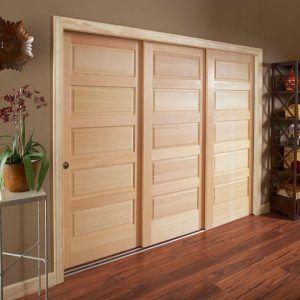 3 Door Sliding Bypass Barn Doors Sliding Sliding Closet Doors