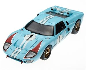 1 18 1966 Gulf Blue Ford Gt40 Le Mans 1 Diecast Ford Gt40 Gt40 Le Mans Diecast Model Cars