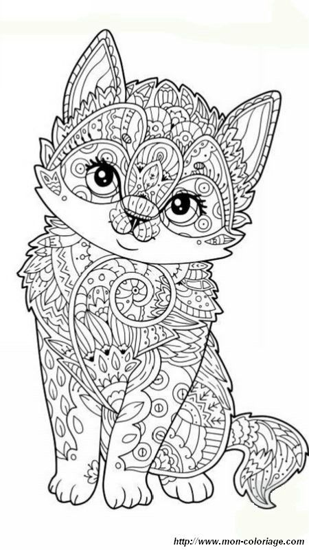 Nice 19 Mandala D Animaux Difficile En 2020 Coloriage Chaton Coloriage Mandala Animaux Coloriage Chat
