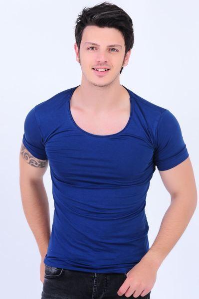 Erkek Tisort U Yaka Basic Mavi T Shirt Kadin Modelleri Tarzi Gunluk Kisa Muhafazakar Style Kap Moda Deri Tasarim Aksesu Erkek Tisort Mavi Tisort