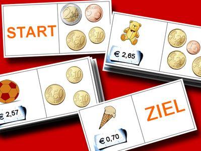 Geldstücke kennenlernen – Grundschule Klasse 1+2