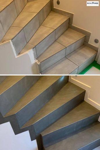 Le B Eacute Ton Cir Eacute Permet De R Eacute Nover Des Supports Carrel Eacute S Sans Devoir Retirer Le Car Escalier Carrele Nez De Marche Decoration Escalier