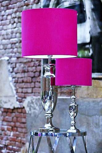 Pink Lamp Decor, Small Fuschia Lamp Shade