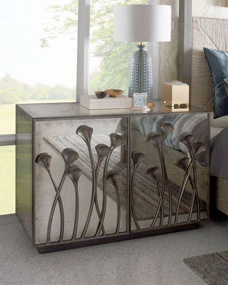 Bernhardt Evie Antiqued Mirrored Chest In 2020 Mirrored Chest Modern Buffet Mirrored Furniture