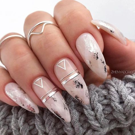 39 Top Newest Homecoming Nails Designs Marble Nails Design With Triangle Accents ★ Have you already decided on your homecoming nails design? If you need some inspo, check out our gallery. Here, we put together the best ideas to s Water Nails, Water Marble Nails, Marble Nail Art, Pink Marble, Marble Nail Designs, Acrylic Nail Designs, Nail Art Designs, Nails Design, Pink Acrylic Nails