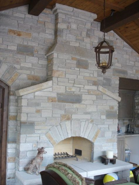 Types Of Stone Fireplaces Stone And Flagstone Contemporary