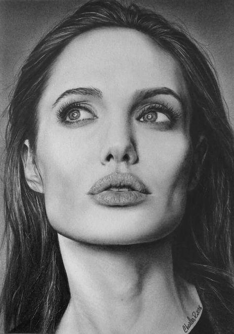 Beautiful portrait drawing by Lika Sunik