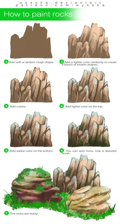How To Paint Rocks by wysoka on DeviantArt