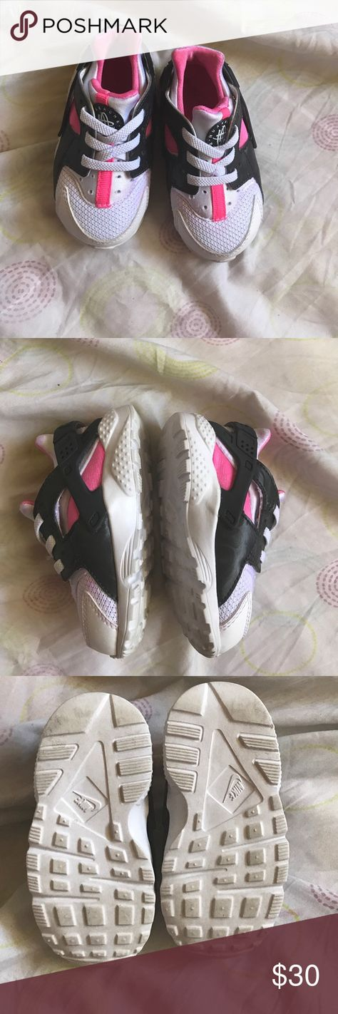 c8ff006ecec3 Nike Huarache Adorable pink black and white Nike Huaraches. Will fit a 1-2
