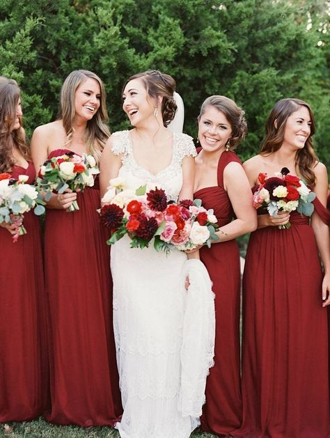 13 Winter Wedding Color Combos That Wow Deep Red