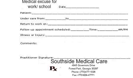 Fake Doctors Note Print Out | Fake Doctors Note Template, Doctor ...
