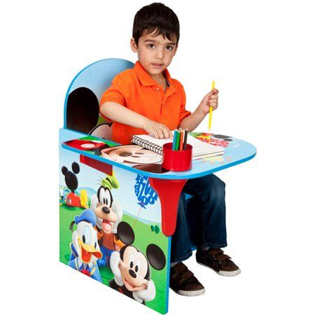 Disney Mickey Mouse Chair Desk With Storage Bin By Delta Children Walmart Com Toddler Desk Mickey Mouse Chair Kids Chairs