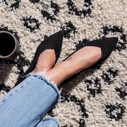 Black Honeycomb Minimalist Shoes Rothys Shoes Pointed Toe Flats