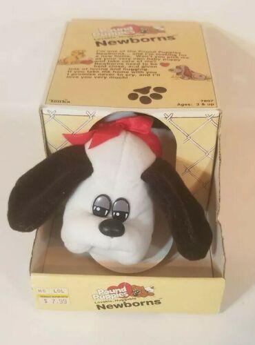 Details About Vintage 1985 Newborn Pound Puppies 7807 Tonka Plush White Dog Toy Original Box Pound Puppies Dog Toys Dog Pounds