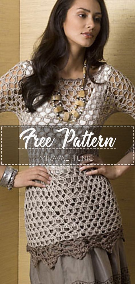 Miraval Tunic – Pattern Free #crochetpattern #crochet
