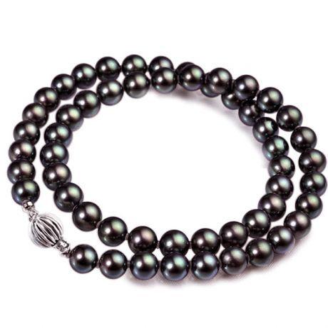 collier perle noir pour homme