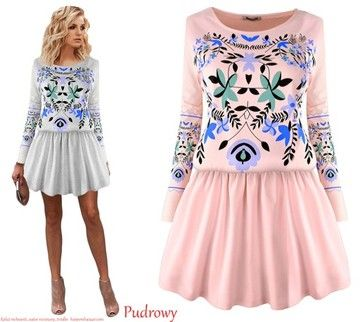 Awanti Rozkloszowana Sukienka Folk Kwiaty Kolory 7317124378 Allegro Pl Wiecej Niz Aukcje Mini Dress Fashion Dresses