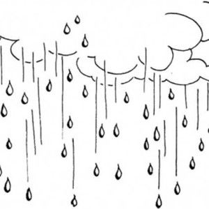 Image Result For Rain Black And White Sketch Clipart Rain Days Falling From The Sky Coloring Pages