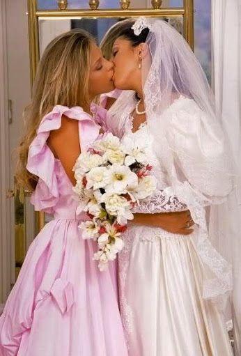 Lesbian bride porn wedding message