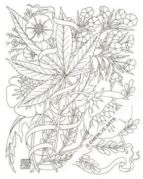 Weed Colouring Pages : colouring, pages, Adult, Coloring