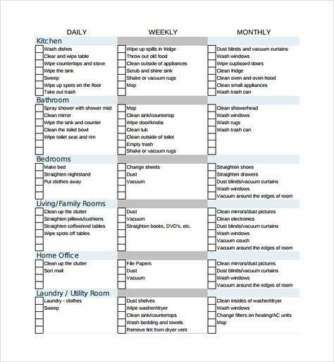 Sample House Cleaning Checklist Cleaning hacks Pinterest - sample house cleaning checklist