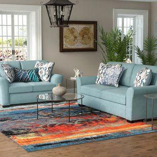 Winston Porter Saltzman 2 Piece Living Room Set Wayfair Turquoiselivingroomdecor In 2020 Living Room Turquoise Turquoise Living Room Decor Living Room Sets