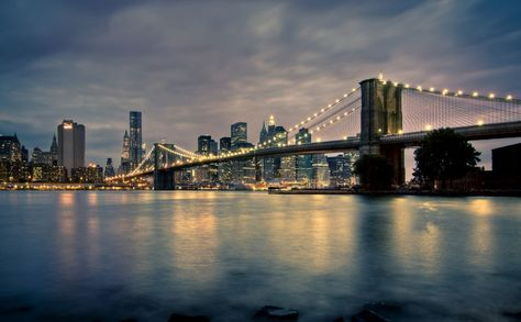 Brooklyn Bridge At Night Hd Wallpaper Bridge Wallpaper