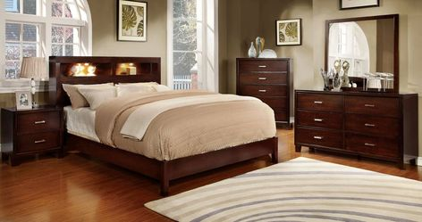 Furniture Of America Chayenne Platform Bed With Illuminated Book