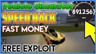 NEW ROBLOX HACK - VEHICLE SIMULATOR - SPEED / MAKE MONEY