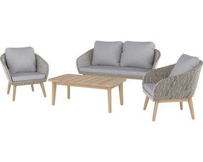 Lounge Set Bonavista 4 Teilig Aus Polyrattan Braun Kaufen Bei Obi Lounge Mobel Lounge Mobel