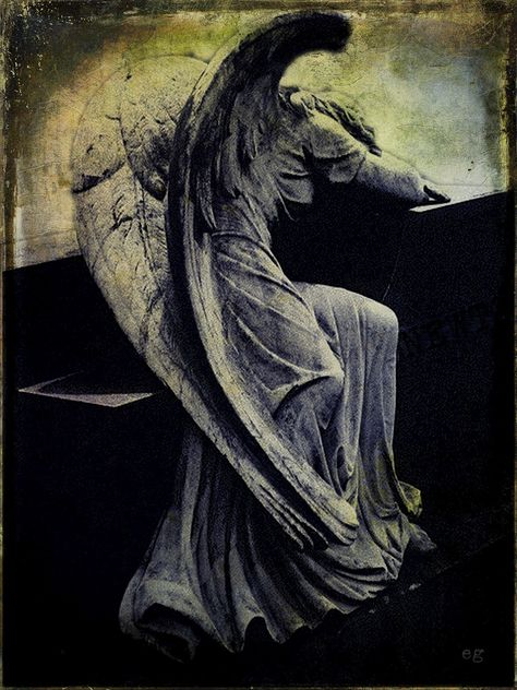 the last door down the hall: Digital Collage - Angel of Grief