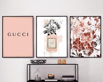 3 X Poster Set Gucci Art Print Gucci Poster Gucci Wall Art Etsy Handmade Coasters Wood Coasters Etsy Wall Art